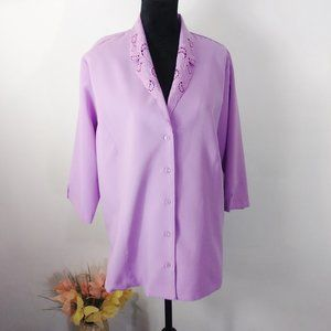Bon Worth 3/4 sleeve blouse size L